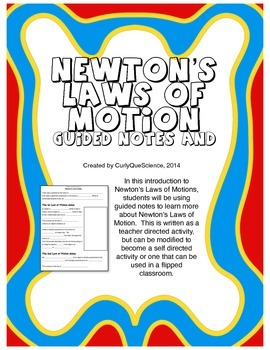 Newton's Laws of Motion Guided Notes