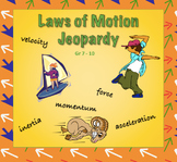 Newton's Laws of Motion Jeopardy Game with Momentum & Impulse