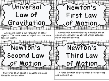 Newton's Laws of Motion - Minibook and Worksheet Set