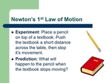 Newton's Laws of Motion PowerPoint Presentation AND Studen