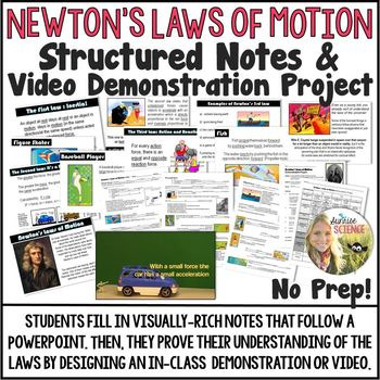 Newton's Laws of Motion Structured Notes and Demonstration Project