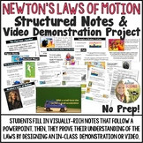 Newton's Laws of Motion Structured Notes and Demonstration