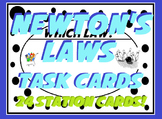 Newton's Laws of Motion Task Card Sort Real World Examples