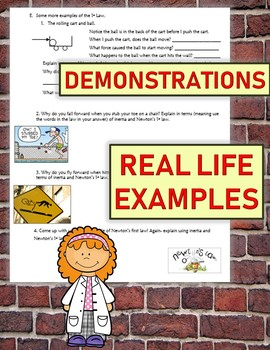 Newtons Laws of Motion interactive NOTES with demonstrations and activities