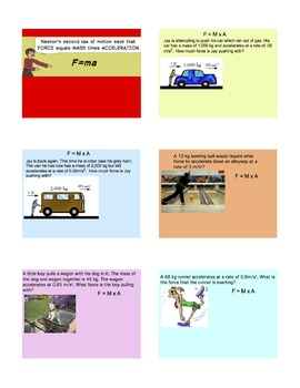 Newton's Second Law of Motion SmartBoard Lesson