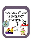 Newton's Third Law Station Science Inquiry Activities (12 stations)