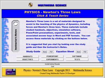Physics - Newton's Three Laws Unit - Click and Teach Bundle