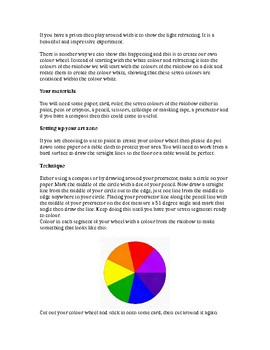 Newtons colour wheel