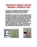 Newton's first law of motion (Inertia) Lab