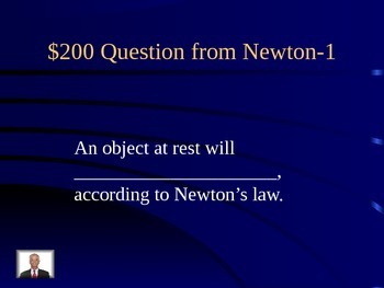 Newton's laws, gravity, momentum Jeopardy review game