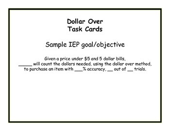 Next AUSTRALIAN Dollar Up Task Cards ~ Special Education ~ Money Math
