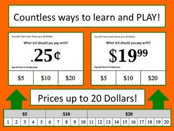 Next Dollar Bill $5 $10 or $20 Task Cards