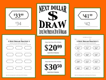 Next Dollar (Dollar Up) Draw: Level 2 (Prices of 20 to 50 Dollars)