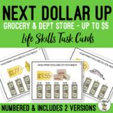 Next Dollar Up - How Many Dollars Do I Need? Task Cards
