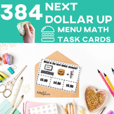 Next Dollar Up Task Cards