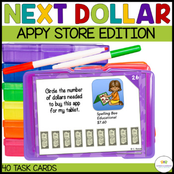 Next Dollar Up Task Cards: App Edition (Special Education;