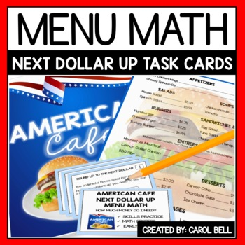 Next Dollar Up Task Cards Cafe