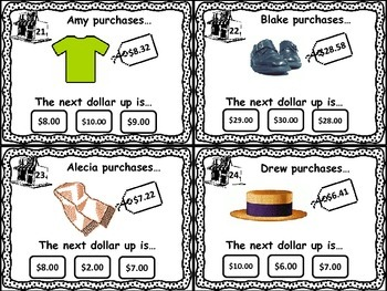 Next Dollar Up Task Cards Set 2- Money Resources