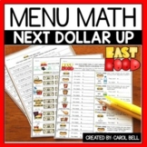 Next Dollar Up Worksheets and Word Problems Menu Math
