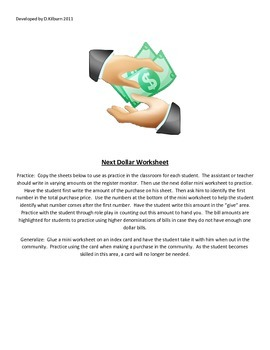 Next Dollar Worksheet