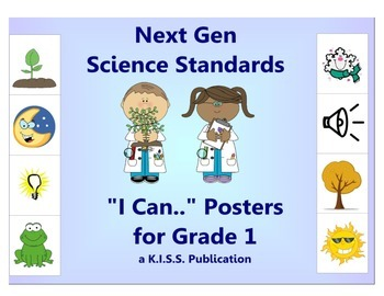 "Next Gen Science ""I Can"" Statement Posters Sampler 1st Grade"