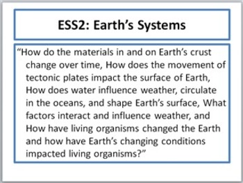 Next Generation EARTH Science Standards