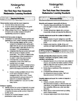 Next Generation NYS Math Standards Flip Chart