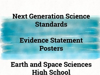 Next Generation Science Evidence Statement Posters - Earth & Space Sciences