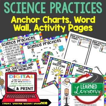 Next Generation Science Practices Posters Word Wall Activities