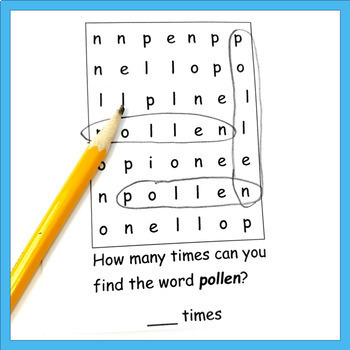Pollen Mini Book for science lesson on pollination, flowers, or bees