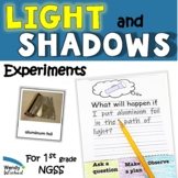 Light and Shadow Investigation Next Gen Science Activity