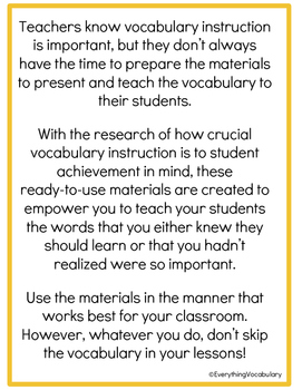 NGSS Academic Vocabulary Cards