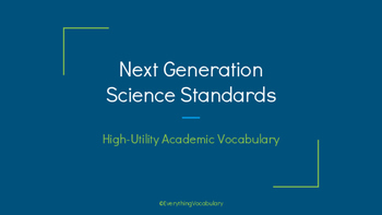 NGSS Academic Vocabulary Presentation