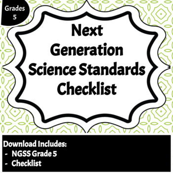 Next Generation Science Standards Checklist