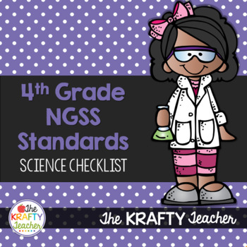 NGSS Checklist for Fourth Grade Science Standards