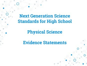 Next Generation Science Standards Evidence Statement Posters - Physical Science