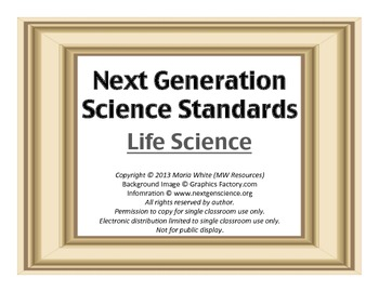 Next Generation Science Standards For High School Life Science 1