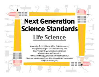 Next Generation Science Standards For High School Life Science 4