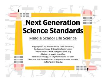 Next Generation Science Standards For Middle School Life Science 4