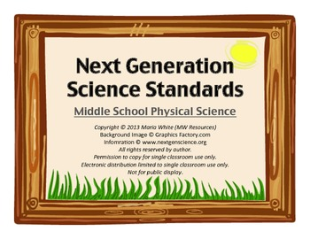 Next Generation Science Standards For Middle School Physical Science 3