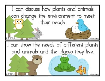 "Next Generation Science Standards ""I Can"" Statements: Kindergarten"