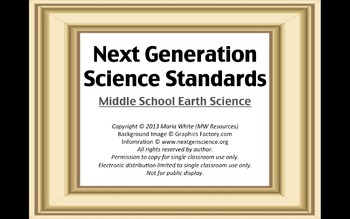 Next Generation Science Standards For Middle School Earth Science 1