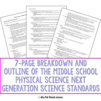 Next Generation Science Standards (NGSS) Breakdown - MS and HS Physical Science