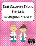 Next Generation Science Standards (NGSS) Checklist - Kindergarten