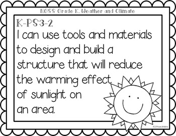 """Next Generation Science Standards (NGSS) """"I Can"""" posters for Grade K"""