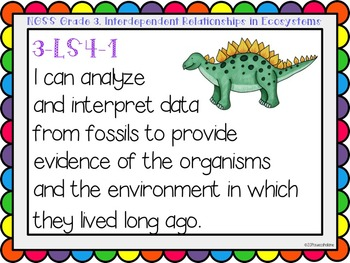 """Next Generation Science Standards (NGSS) """"I Can"""" posters for Grade 3"""