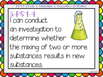 """Next Generation Science Standards (NGSS) """"I Can"""" posters for Grade 5"""