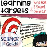 Next Generation Science Standards NGSS Learning Targets for Science 1st grade