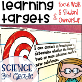 Next Generation Science Standards NGSS Learning Targets for Science 3rd grade