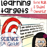 Next Generation Science Standards NGSS Learning Targets for Science 5th grade